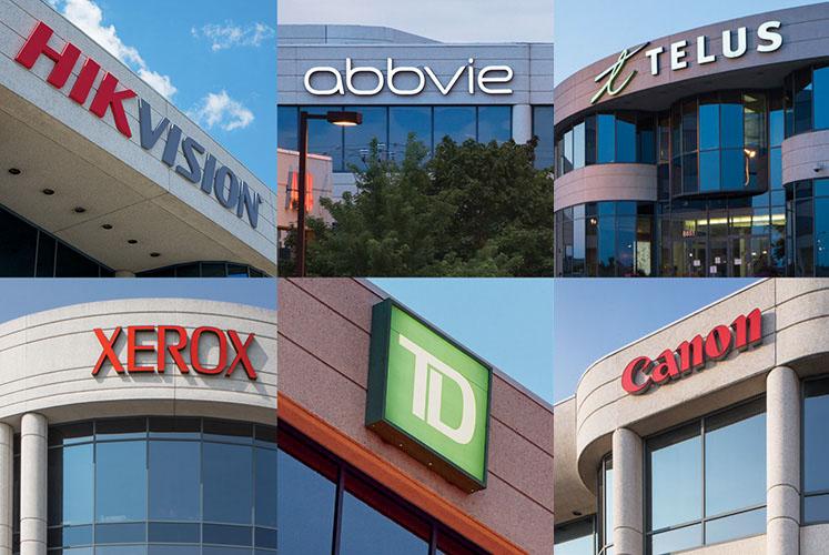 Des compagnies mondialement reconnues